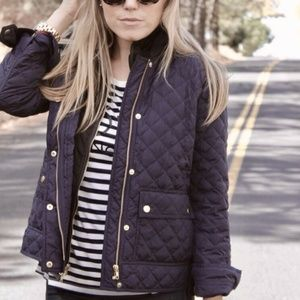 J. Crew Black Quilted Down Jacket
